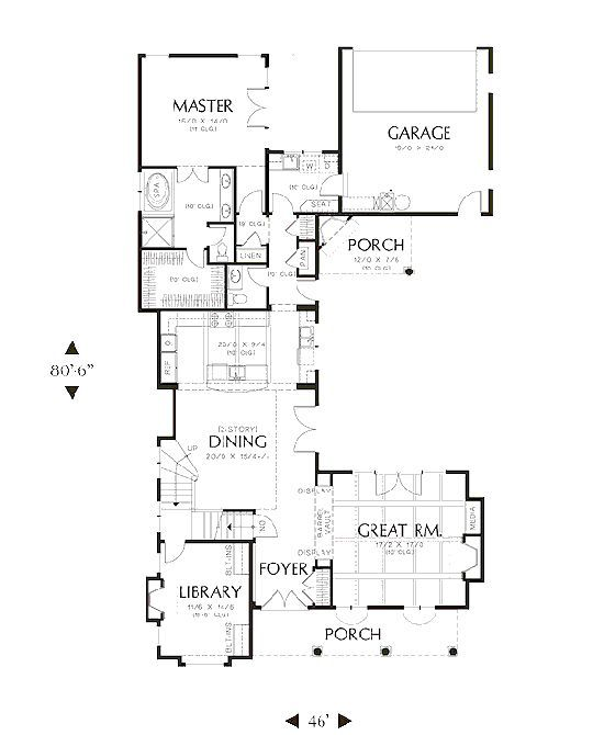 global house plan 80198 For the Home Pinterest Spanish