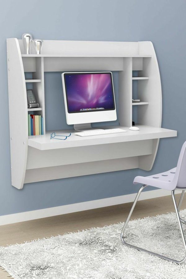 Computertisch design  computertisch wandtisch weiß homeoffice | ideen | Pinterest | Room ...