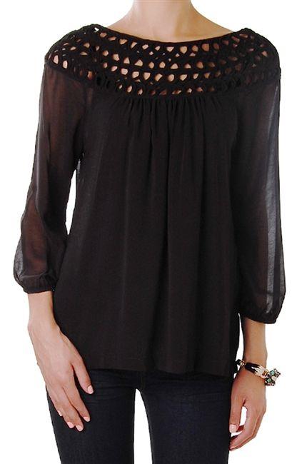 chiffon blouse zwart