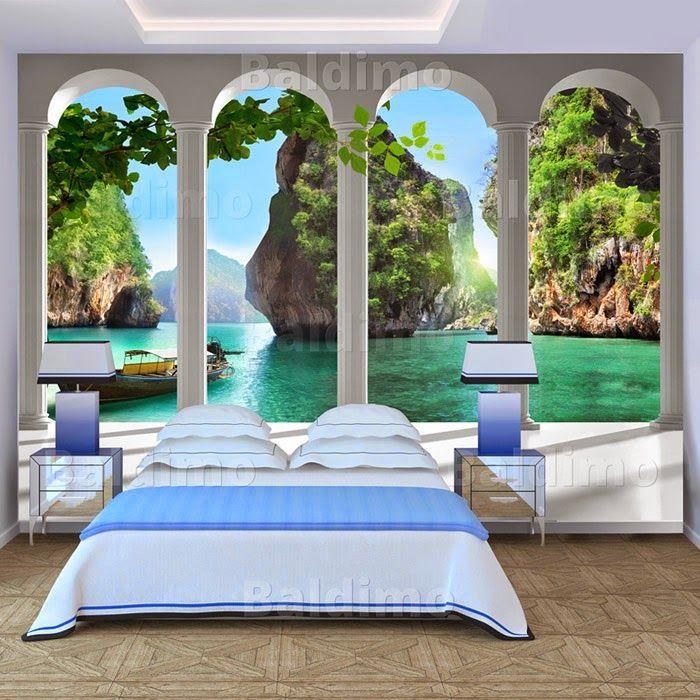 Wandmalerei Wohnzimmer Ideen: Karibik Für Zu Hause: 40+ Unglaublich Schöne Fototapeten