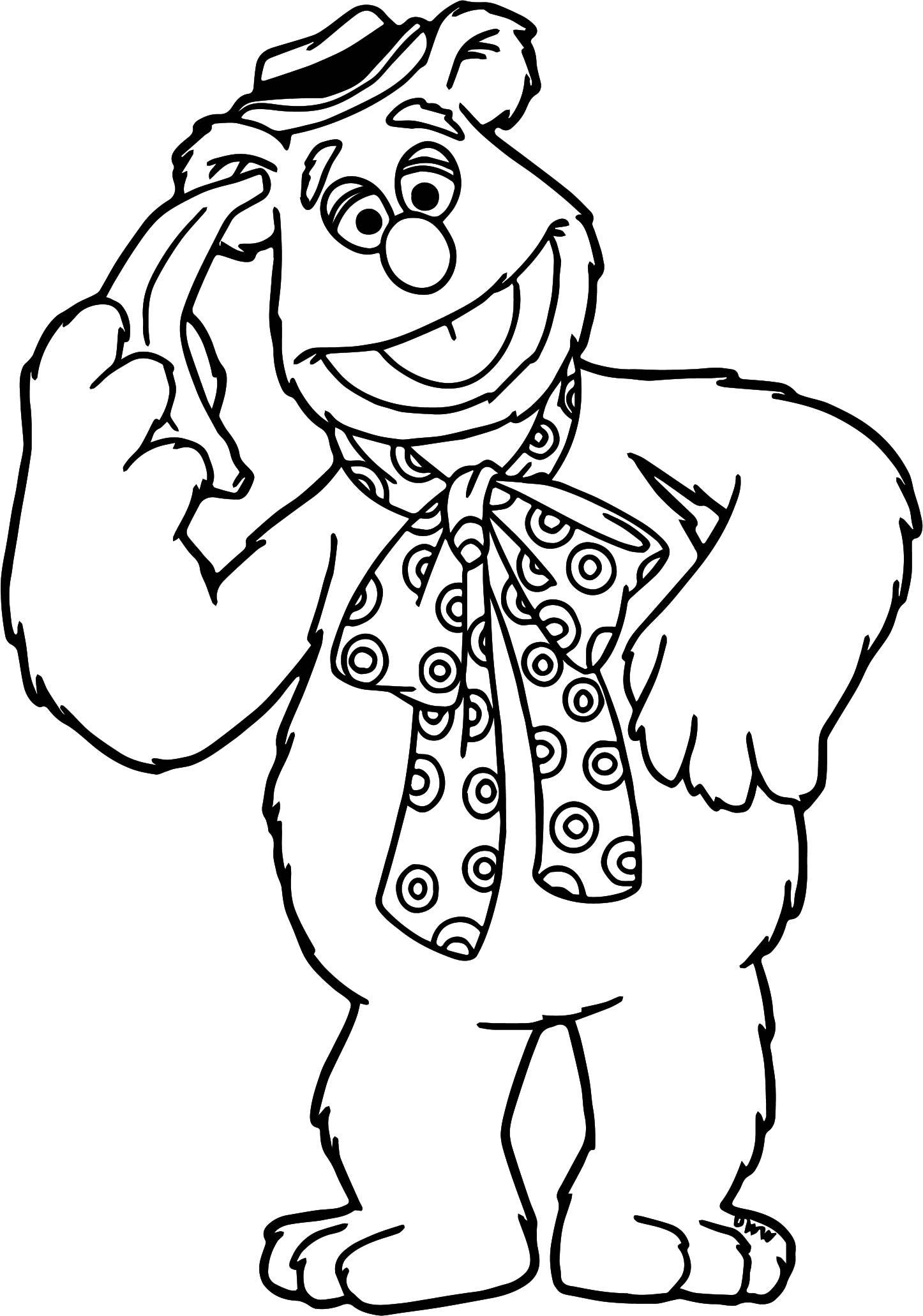 Cool The Muppets Fozzie Coloring Pages