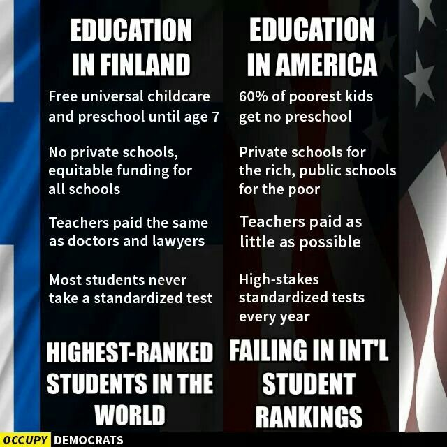 us education vs finnish education Happy teaching, happy learning: 13 secrets to finland's to begin the conversation about improving american education as one finnish principal with us.