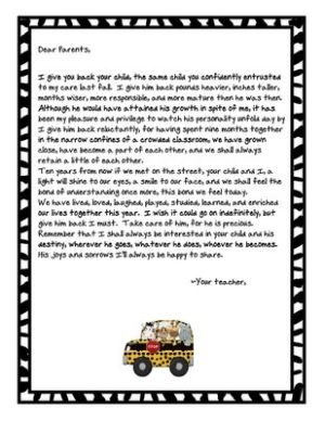 End Of Year Parent Letter So Sad To See My 8th Graders