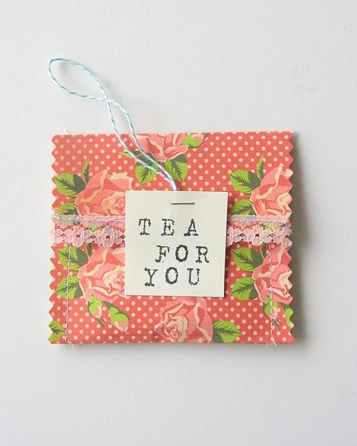 Tea Envelopes for party favours: I'm maid of honour for my sister's wedding. Trying to be honourable.