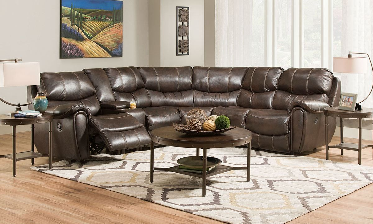 Picture Of Franklin Harbor Town Dual Reclining Sectional Sofa