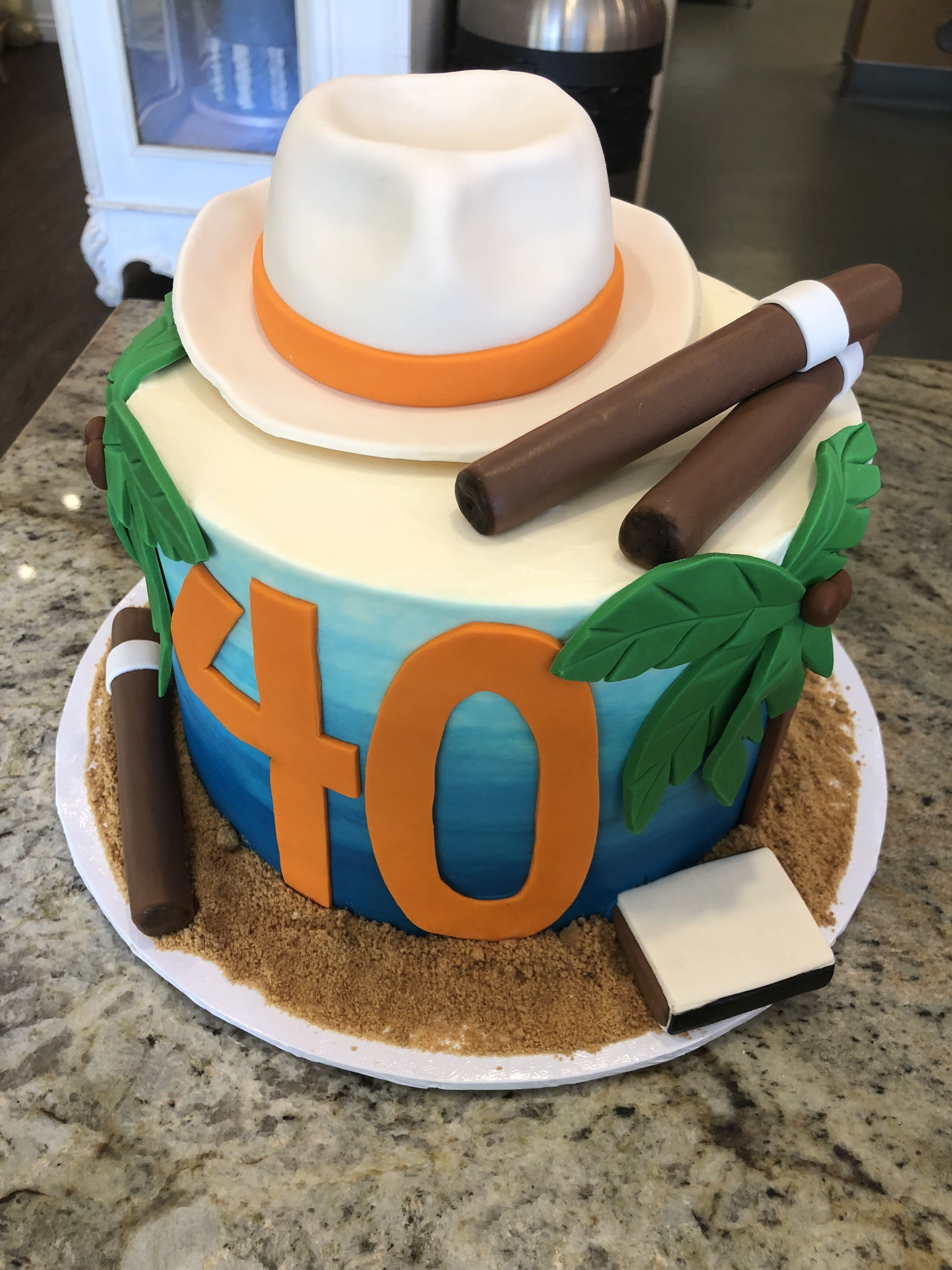 Havana Night Theme 40th Birthday Party Cake In 2020