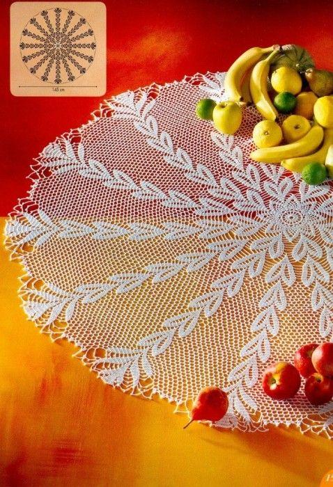 Pin de René Deschamps en crochet | Pinterest | Carpeta, Mantel y ...