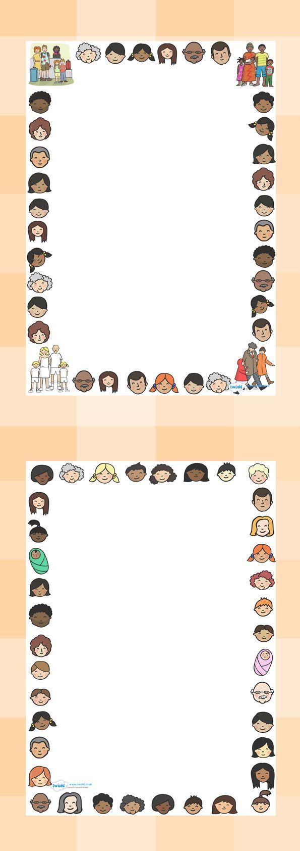 marco familias | periodico padres | Pinterest | Marcos, Bordes de ...