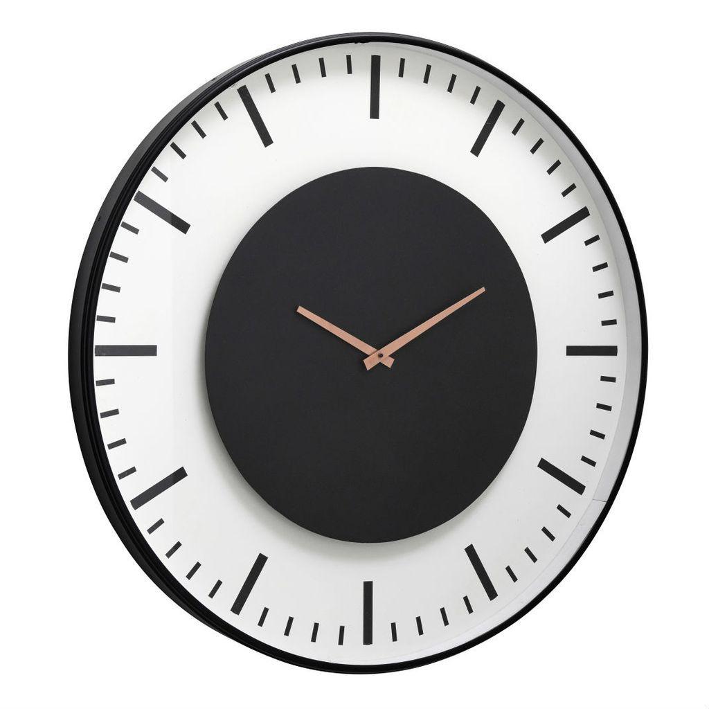Black And White Contemporary Clock 75cm