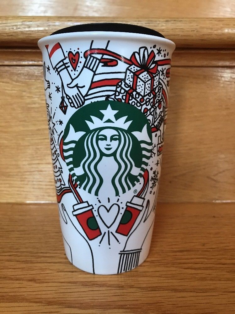 Starbucks Christmas Coffee Cups.Details About 2017 Starbucks Christmas Tumbler To Go Travel