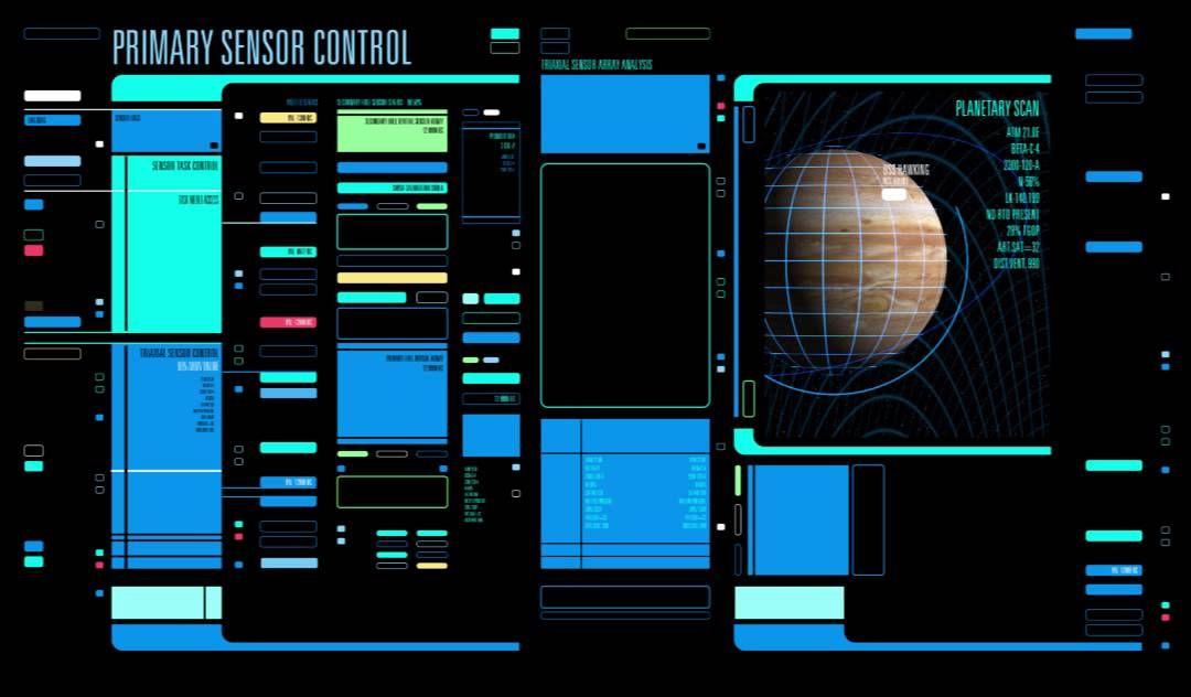 Star trek computer interface design first draft for Wohnung star trek design