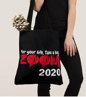 """Photo of TOTE BAG """"ZOOM 2020"""" TOTE BAG Design """"For your Life Take a Big. ZOOM 2020"""" Ideal …"""