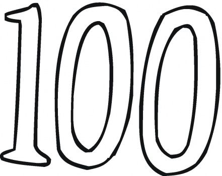 Number 100 Coloring Page Jpg 441 350 School Coloring Pages