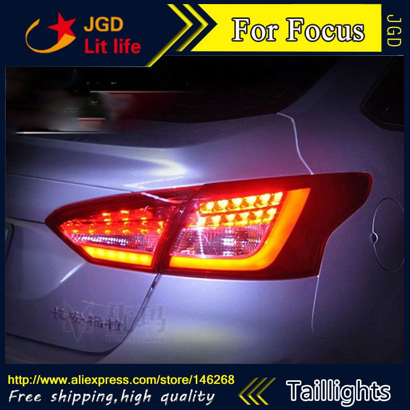 Car Styling Tail Lights For Ford Focus 2012 2013 2014 Led Tail Lamp Rear Trunk Lamp Cover Drl Signal Brake Reverse Ford Focus Tail Light Lamp Cover