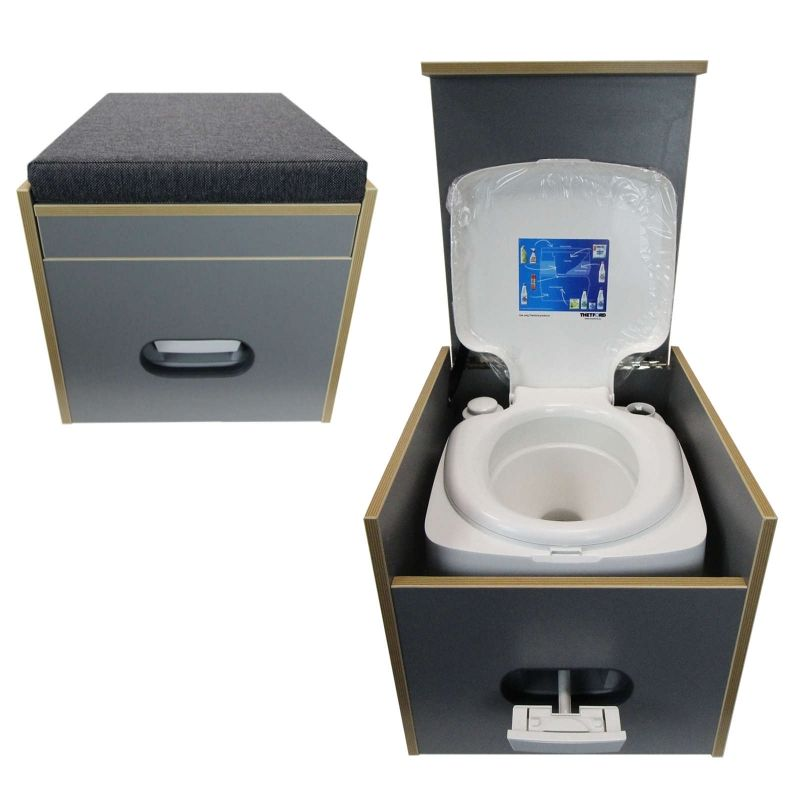 toiletten hocker mit toilette porta potti 145 stauraum. Black Bedroom Furniture Sets. Home Design Ideas