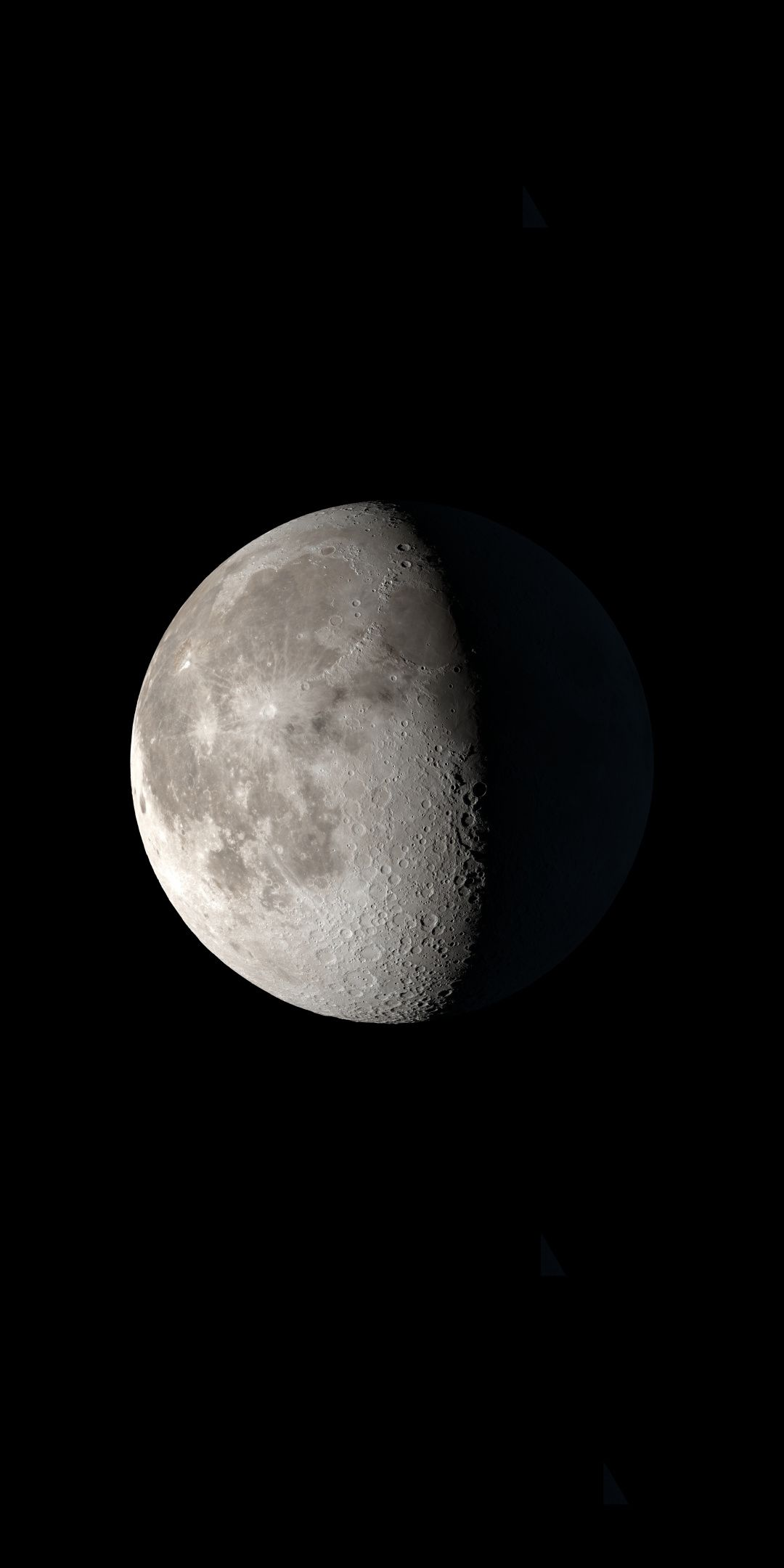 The Moon, surface, 1080x2160 wallpaper