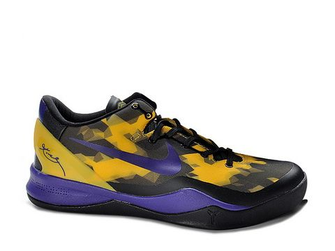 reputable site 67c75 8c083 Nike Zoom Kobe 8 Poison Dart Frog Lakers,Style code 555035-103,It comes in  a black upper with yellow 3-D geometrical pattern and ankle strap,  combining well ...