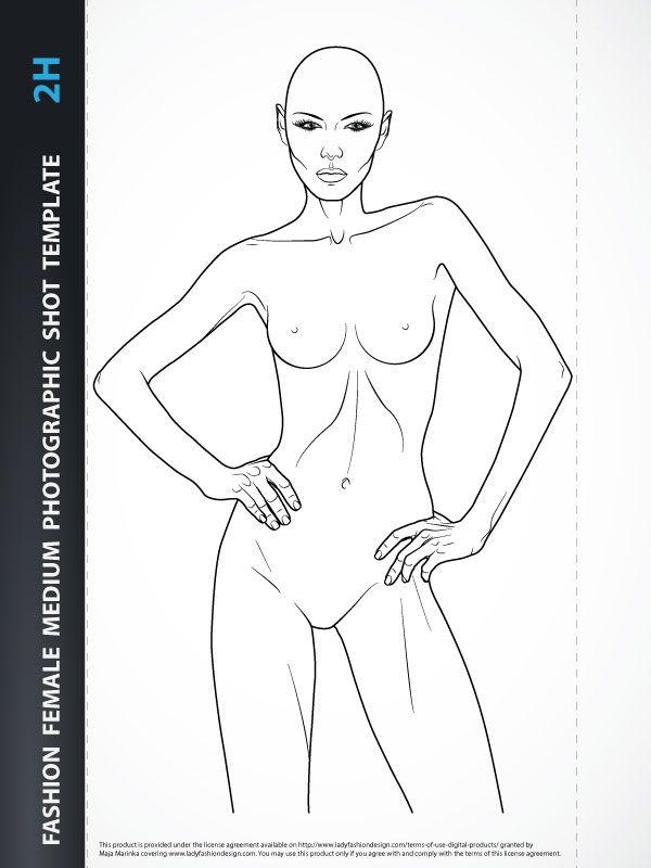 Fashion Female Front Torso Pencils Art Pinterest Fashion - fashion designer templates