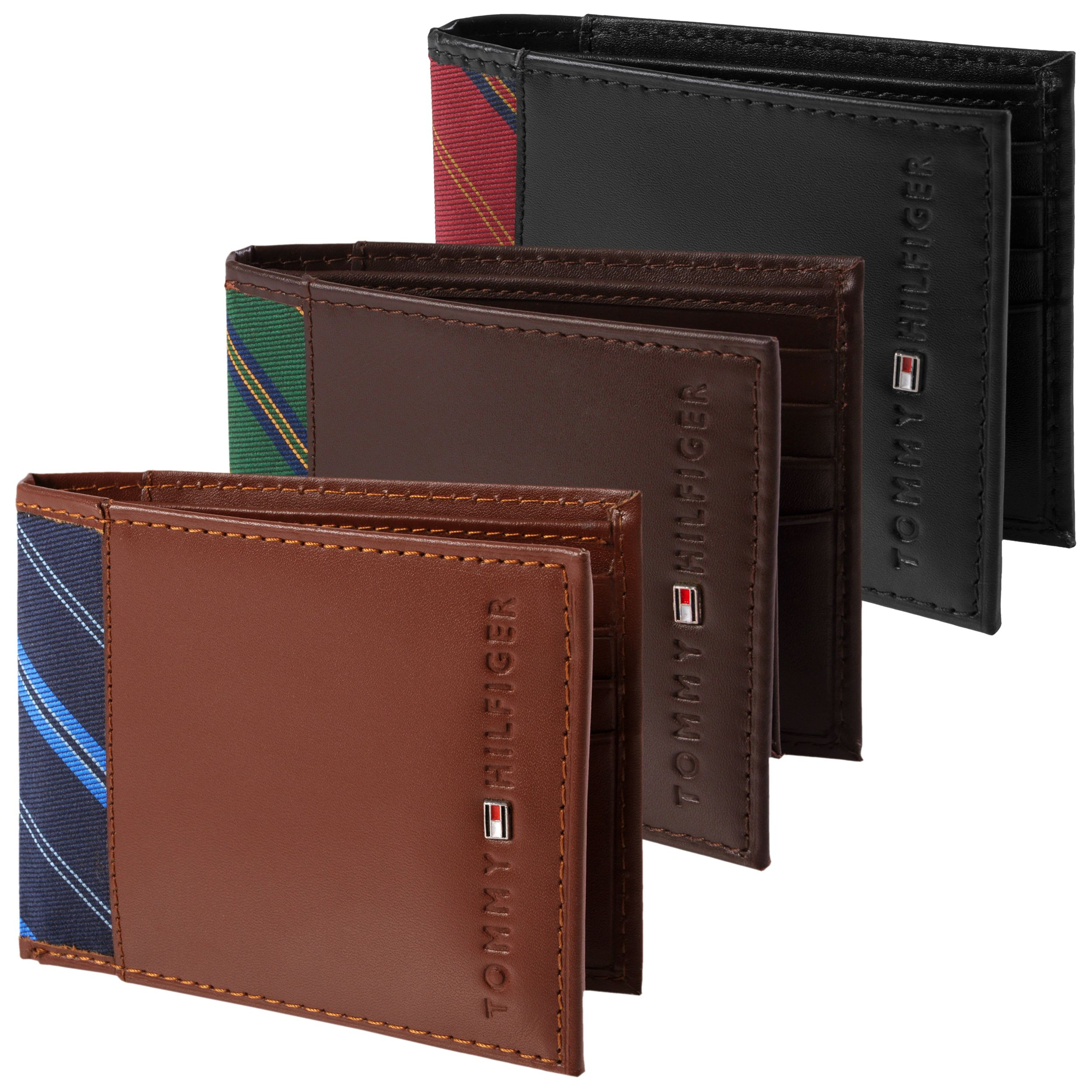 811f31a626 Tommy Hilfiger Men's Bi-Fold Passcase Wallet w/ Ribbon ...