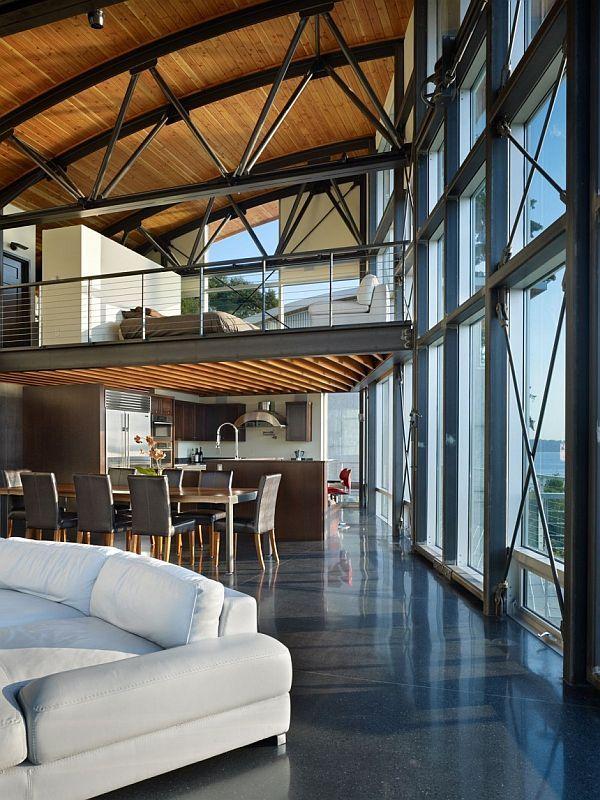 Maison esprit loft à Seattle Charpente, Visible et Esprit - maison ossature metallique avis