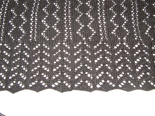 Free Knitting Pattern For A Victorian Shetland Lace Scarf The