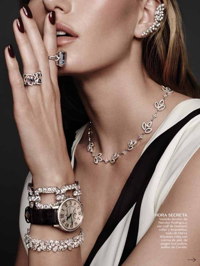 Photo of Marique Schimmel Drips With Icy Jewels In Jonas Bresnan Images For Vogue Mexico July 2015 — Anne of Carversville