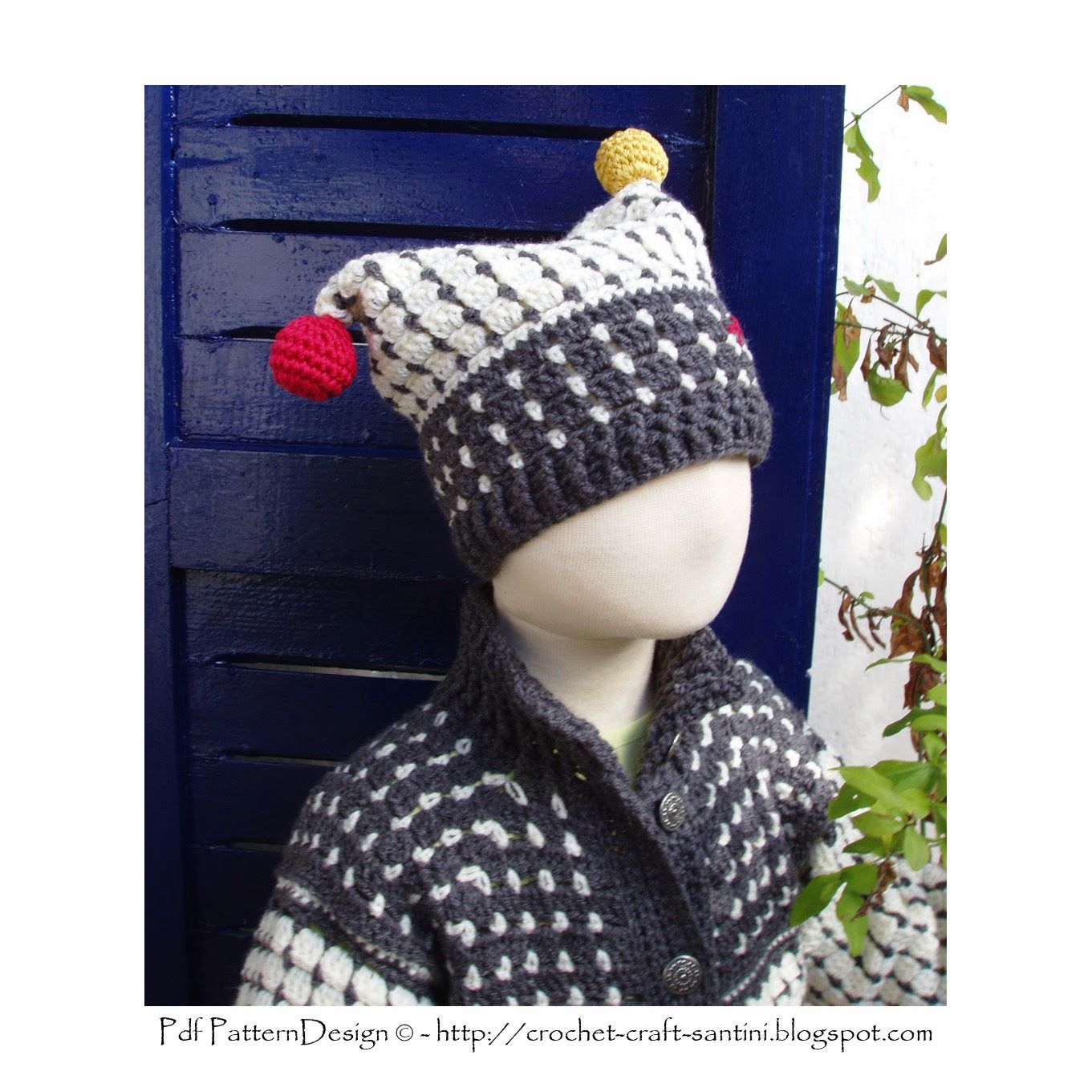 THE FAIR ISLE CROCHET HAT WITH BALLS, ALL SIZES FROM 2 YEARS - ADULT ...