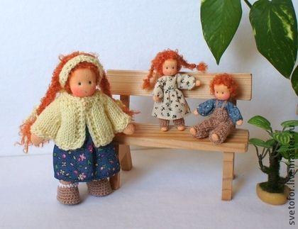 Вальдорфская игрушка ручной работы. Ярмарка Мастеров - ручная работа Малыши Рыжики, 12.5 см и 6.5 см. Handmade.