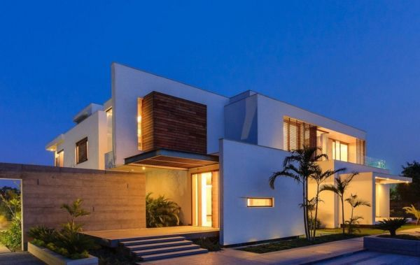 Stunning Cubic House In New Delhi India Architecture House Modern House Design House