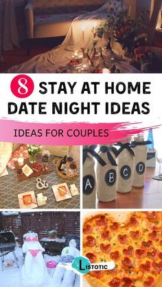Couples can stay in and enjoy a romantic night at home. Couples can have fun and...