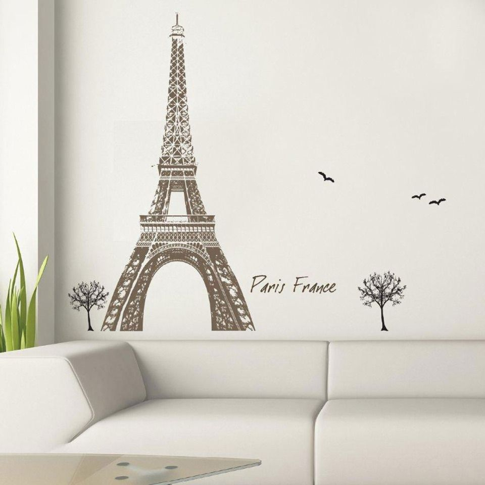 Art Applique By Kmg Eiffel Tower Decorative Wall Decal 19 99