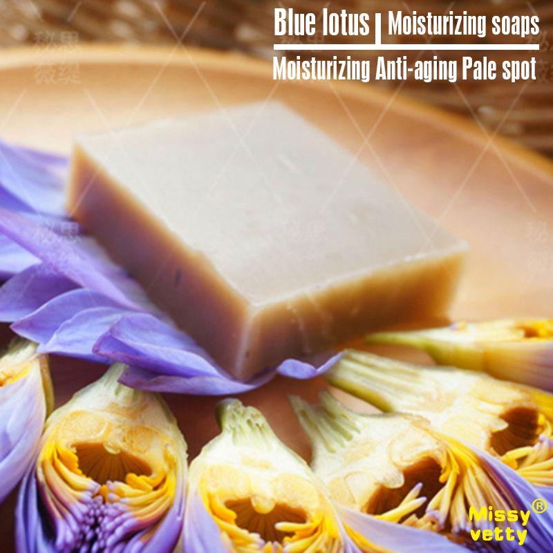 Blue lotus moistening natural handmade soap facewash