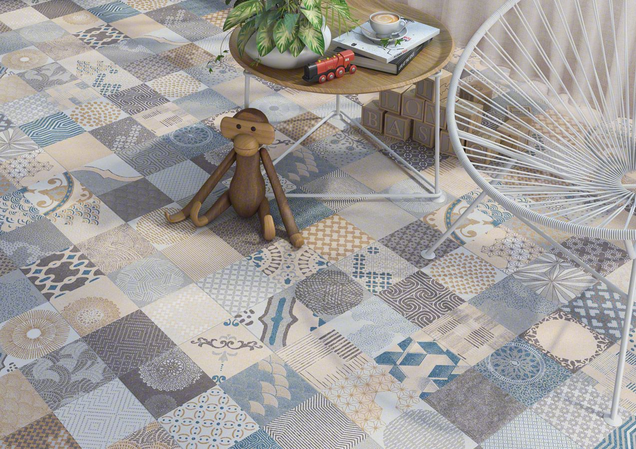 Porcelain tiles alpha vives azulejos y gres s a porcelain tile patchwork collection - Vives azulejos y gres ...