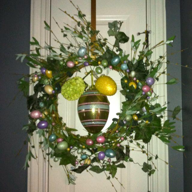 Easter wreath for front door
