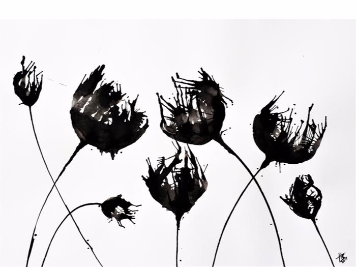 Gambar Bunga Hitam Putih Vektor di 2020 Bunga ungu