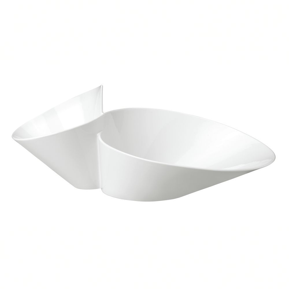 New Wave Eye Catcher Chip Dip Server Villeroy Boch White