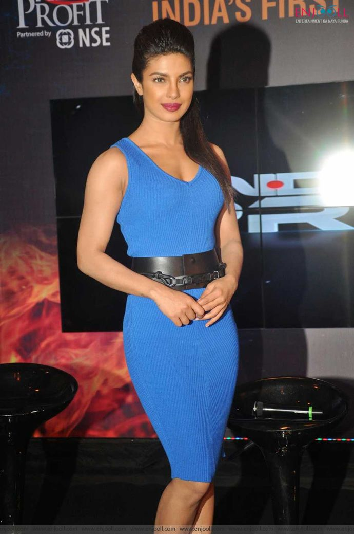 Priyanka Chopra Latest Pics In Blue Dress-9699