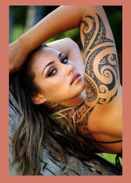 Girl Tribal Tattoo Sleeve Jpg 429 600 Tribal Sleeve Tattoos Half Sleeve Tribal Tattoos Sleeve Tattoos For Women