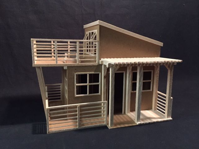 Architectural model maquette of a tiny house made from Small home models pictures