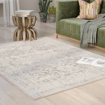 Mistana Hillsby Charcoal Light Gray Beige Area Rug