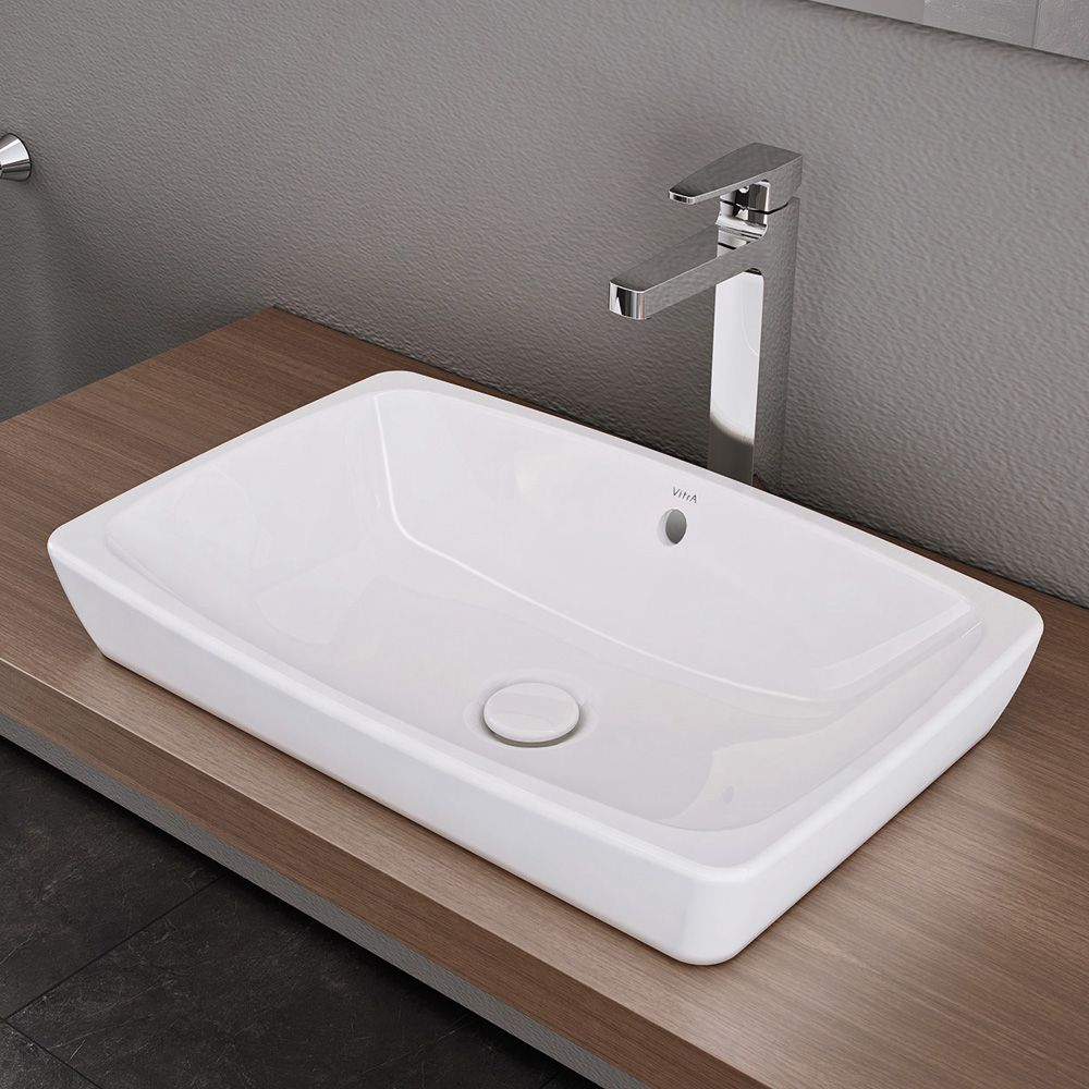vitra metropole countertop washbasin white without vitraclean with overflow bath. Black Bedroom Furniture Sets. Home Design Ideas