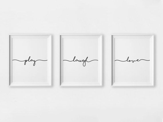 Photo of Laugh Wall Art, Printable Typografie, Play Room Prints, Laugh Sign, Monochrome Nursery, Laugh Print, Kids Room Wall Art