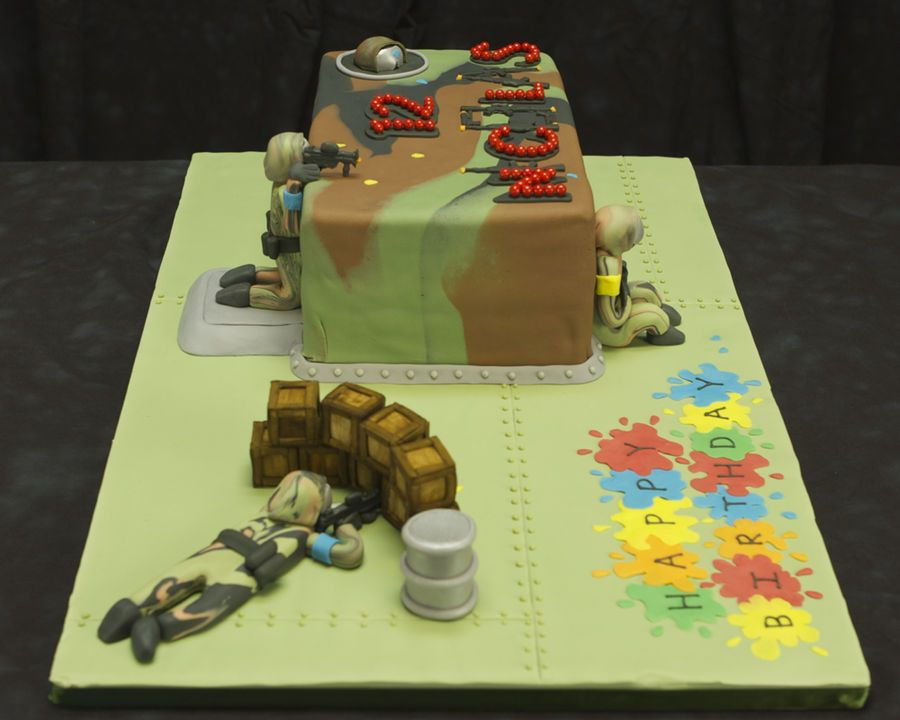 Pin Paintball Birthday Cake Innovations Llc On Pinterest Parties