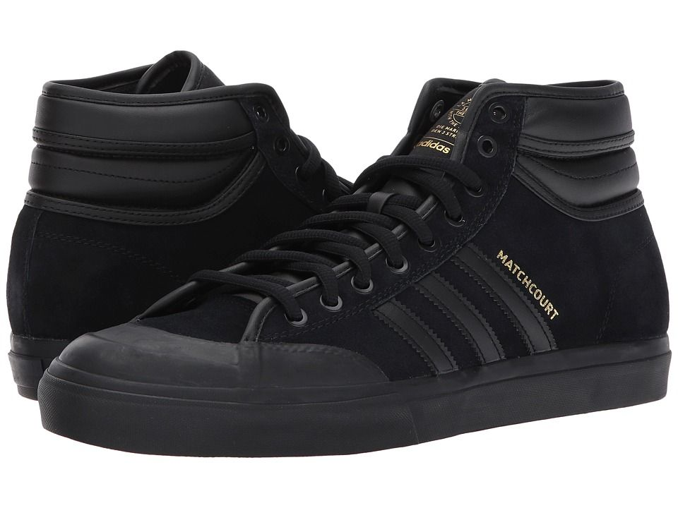 73c97730849 adidas Skateboarding Matchcourt High RX2 Top Ten Men s Skate Shoes Core  Black Core Black Gold Metallic