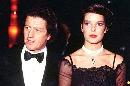Princess Caroline with her first husband, Philippe Junot