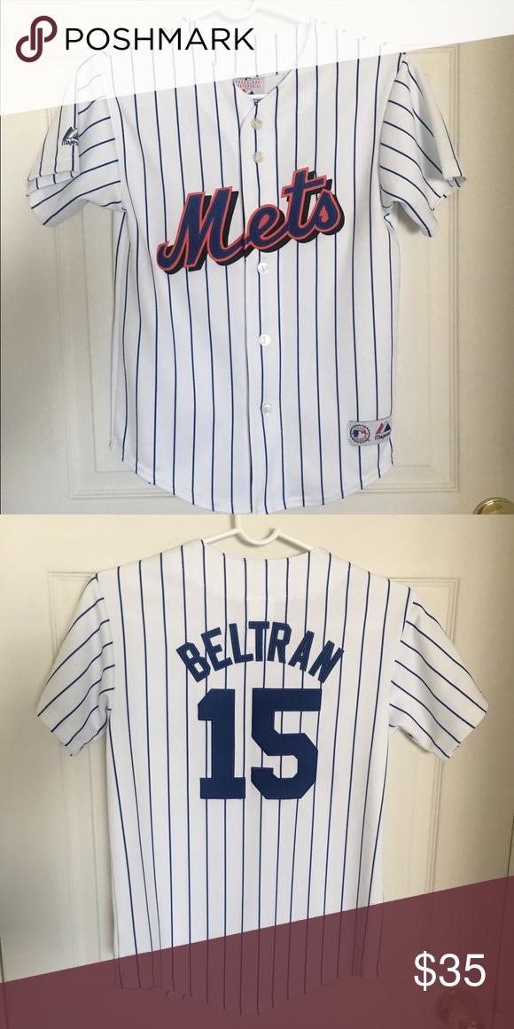 Vintage New York Mets Jersey Majestic Carlos Beltran New