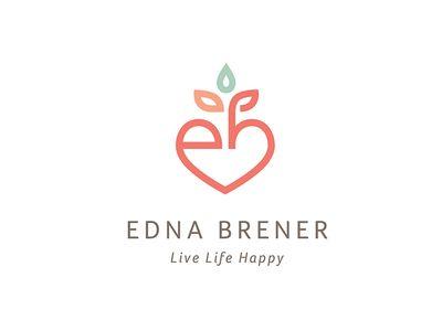 edna brener — health coach  logo inspiration logos