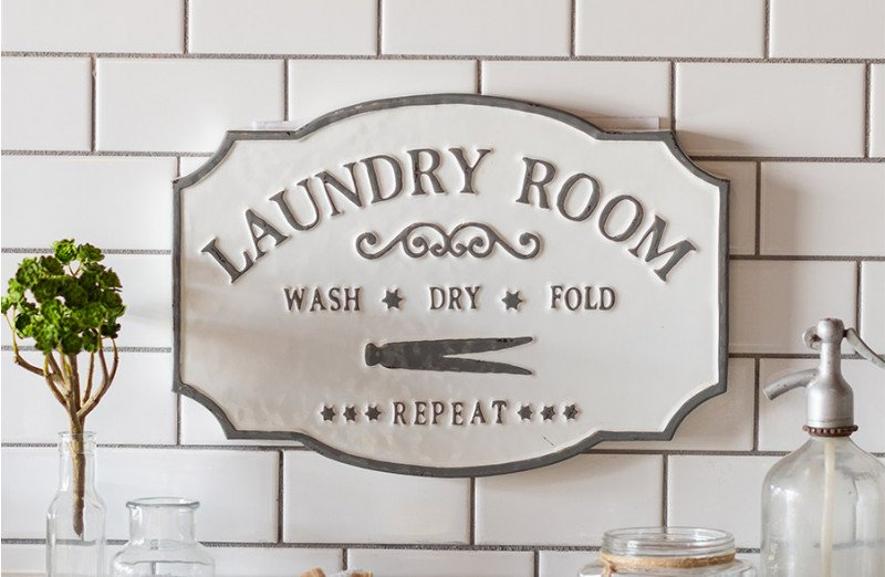 Metal Laundry Sign In 2020 Room Signs