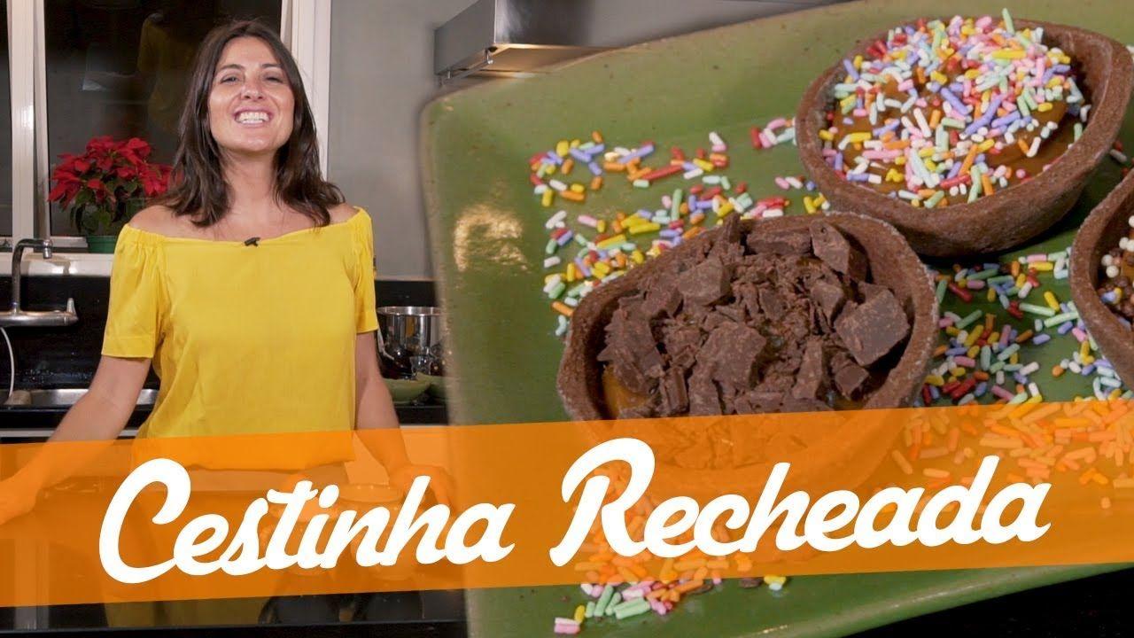 Cestinha Recheada Receita Do Junior Bake Off Brasil Ideias Receitas Receitas Doces
