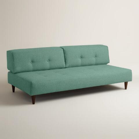 Chunky Woven Albin Upholstered Sofa   World Market #madmen #60s #midcentury  #modern